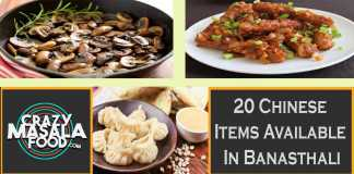 20 Chinese Items Available In Banasthali