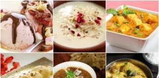 20 Dishes made up from Milk or milk products