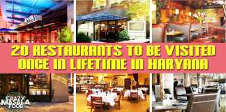 20 Restaurants To Be Visited Once In Lifetime In Haryana