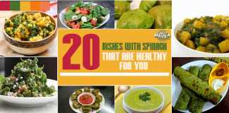 20 dishes with spinache