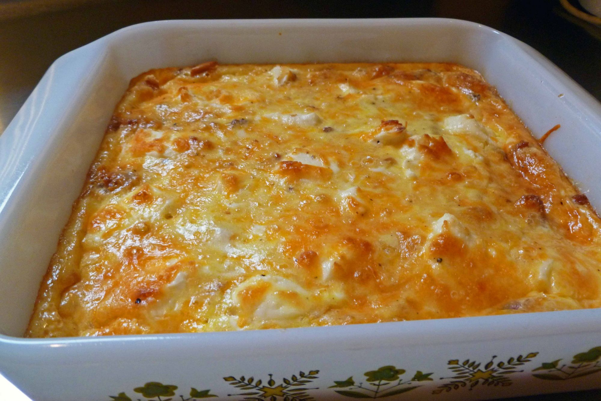 Strata With Eggs & Cheese